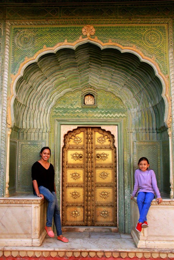 the green gate of city palace