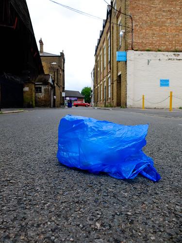 Blue Plastic Bag by Simon Sharville