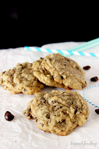 chocolate covered espresso bean cookies