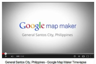 Google Map Maker GenSan Timelapse video