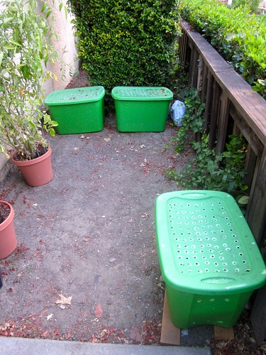 the compost tubs