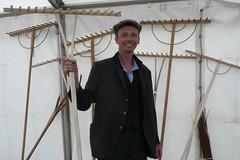 Handmade wooden rakes