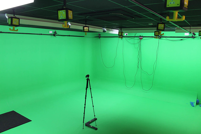 Motion Capture Setup in Green Room