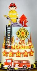 Fireman- Firetruck Cake
