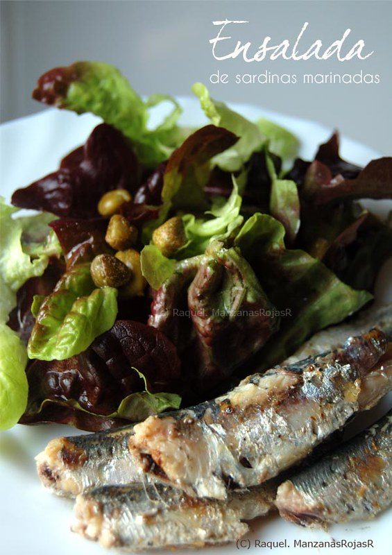 Ensalada de sardinas marinadas