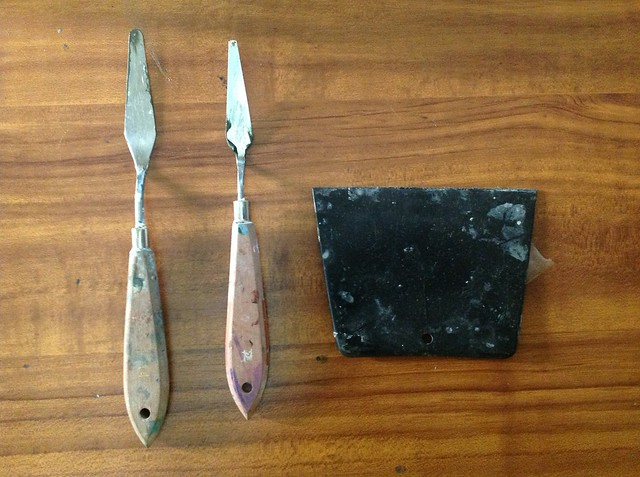 Pallette knife and paint spreader