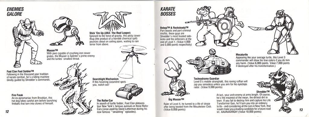 ULTRA GAMES :: TEENAGE MUTANT NINJA TURTLES .. manual pgs