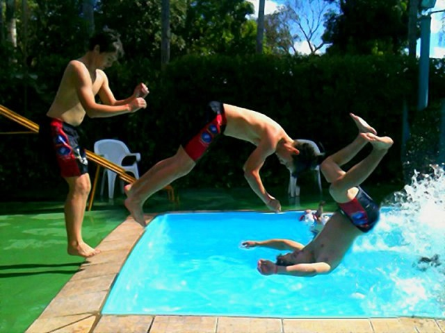 Matrix jump in the pool