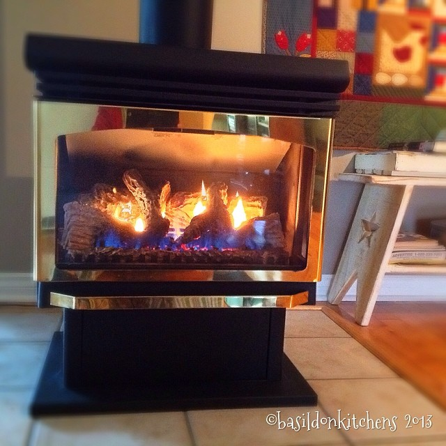 Nov 13 - fire {this is how we heat our house} Today it's real cozy! #photoaday #fire #home #heat