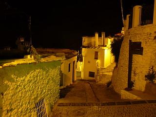 Andalousie, dans les Alpujarras, village de nuit, Capileira