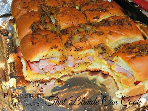 Blond Chick Ham & Cheese Sliders (9)