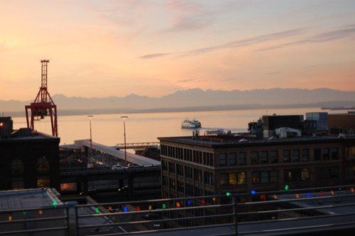Seattle Harbor at Sunset