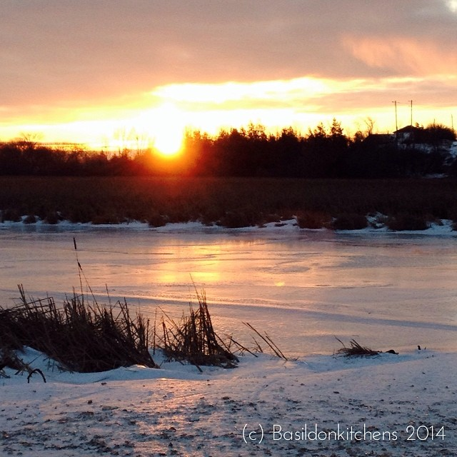9/1/2014 - natural {this mornings sunrise over the marsh} #fmsphotoaday #sunrise #princeedwardcounty #ice #winter
