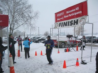 Arlene at the finish line.