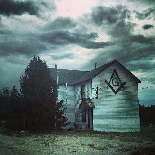 Historic Masonic Lodge, Fairplay CO by @MySoDotCom