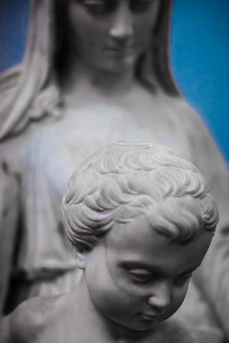 Madonna, Jean-Robert Calloigne, Marble Statue, Groeningmuseum, Bruges