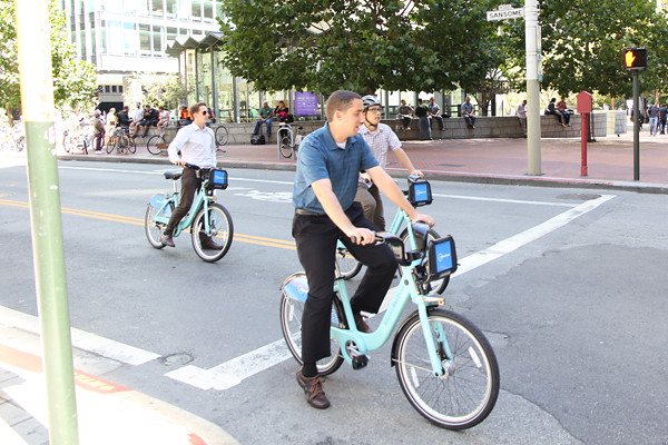 bike shares already in use