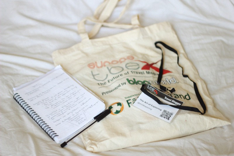TBEX goody bag