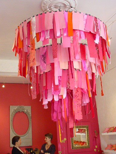 cloth cutout chandelier