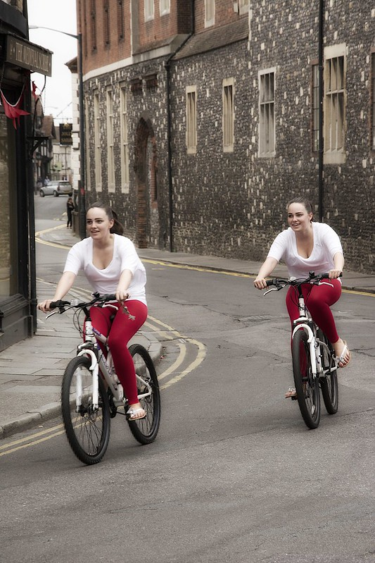 Two cyclists in Canterbury