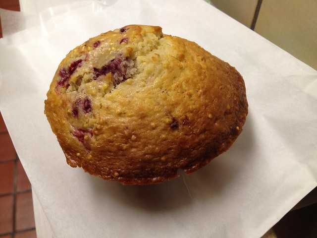 Raspberry millet muffin - Arizmendi Bakery