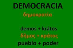 Etimología de DEMOCRACIA