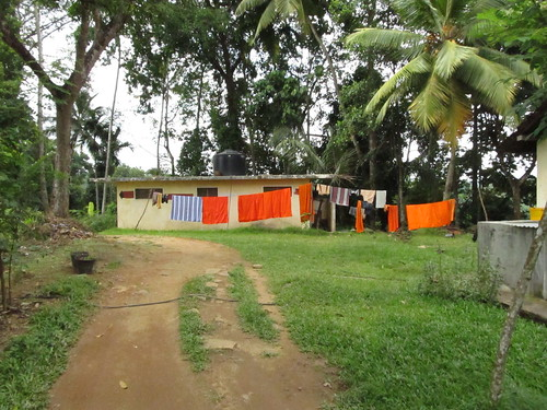 Monks drying line