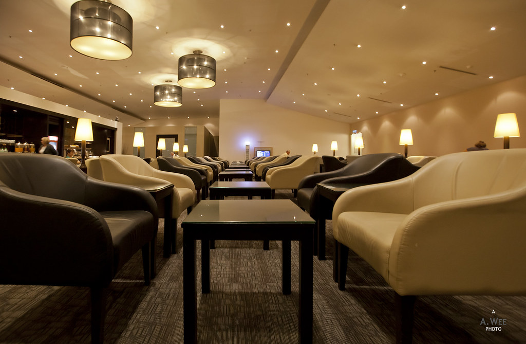 Seats inside the Golden Lounge