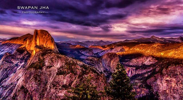 Stormy Sunset at Half Dome, Yosemite