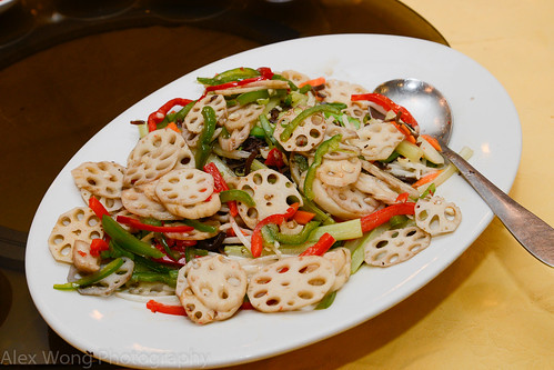Lotus Root and Sweet Peppers