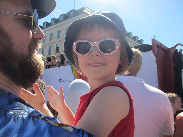 Ava på sin första Prideparad