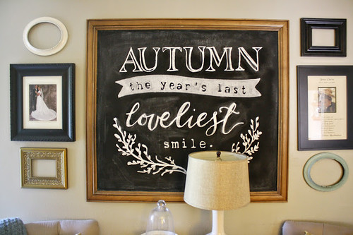 Clarendon Lane DIY Autumn Chalkboard