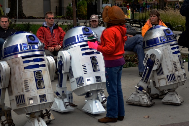 Caitlin and R2…and R2…and R2
