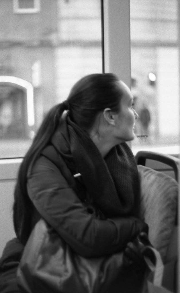 Praktica BC1 - Young Woman in the Tram