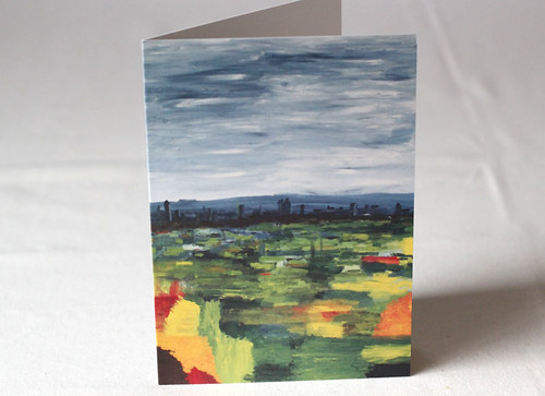 View from Muswell Hill Litho Print Greeting Card