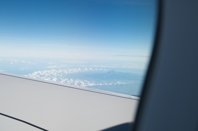 Mt. Taranaki from the sky