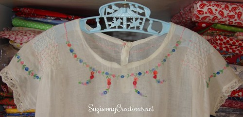 American Smocking Gown top