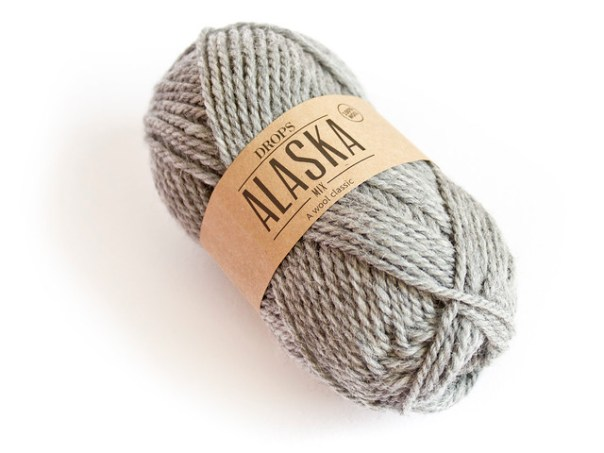 Drops Alaska Yarn in Grey