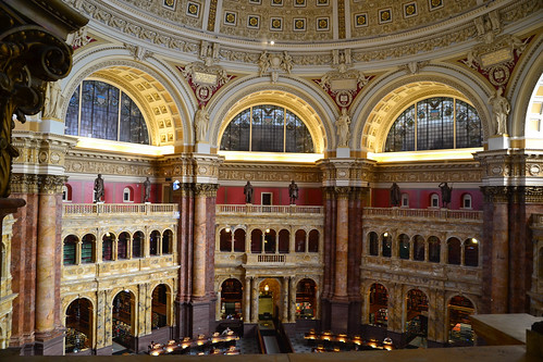 The main reading room of the Library of Congress.