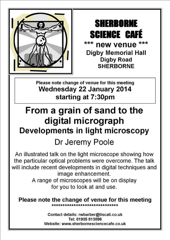 Sherborne Science Cafe - January event