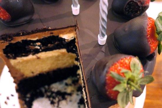 Chocolate and Vanilla Buttermilk Cake