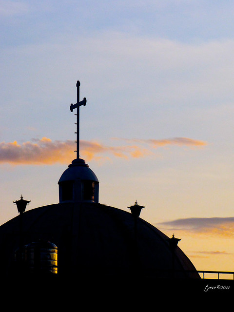 San Roque Church Pasay silhouette
