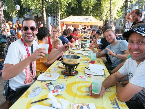 Cheese fondue party at CMWC 2013