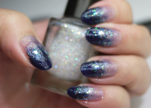 Holiday Nails Starry Night Gradient