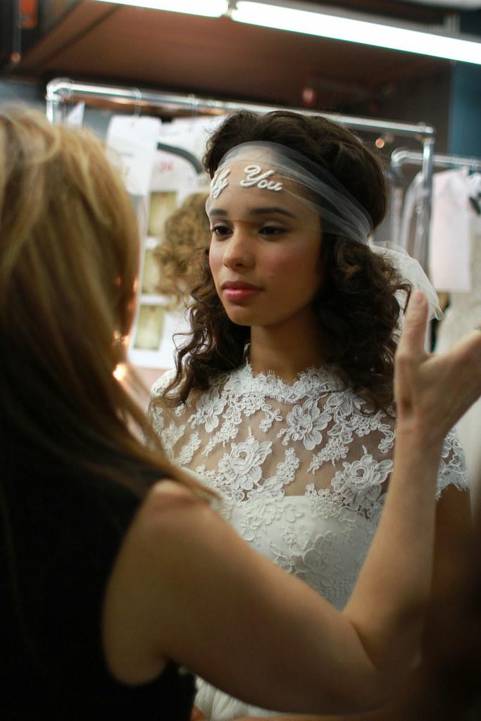 Reem Acra Spring 2014 Bridal- Backstage - 009