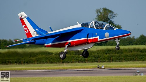 RAF Waddington Patrouille De France Alpha Jets by Simon Batty