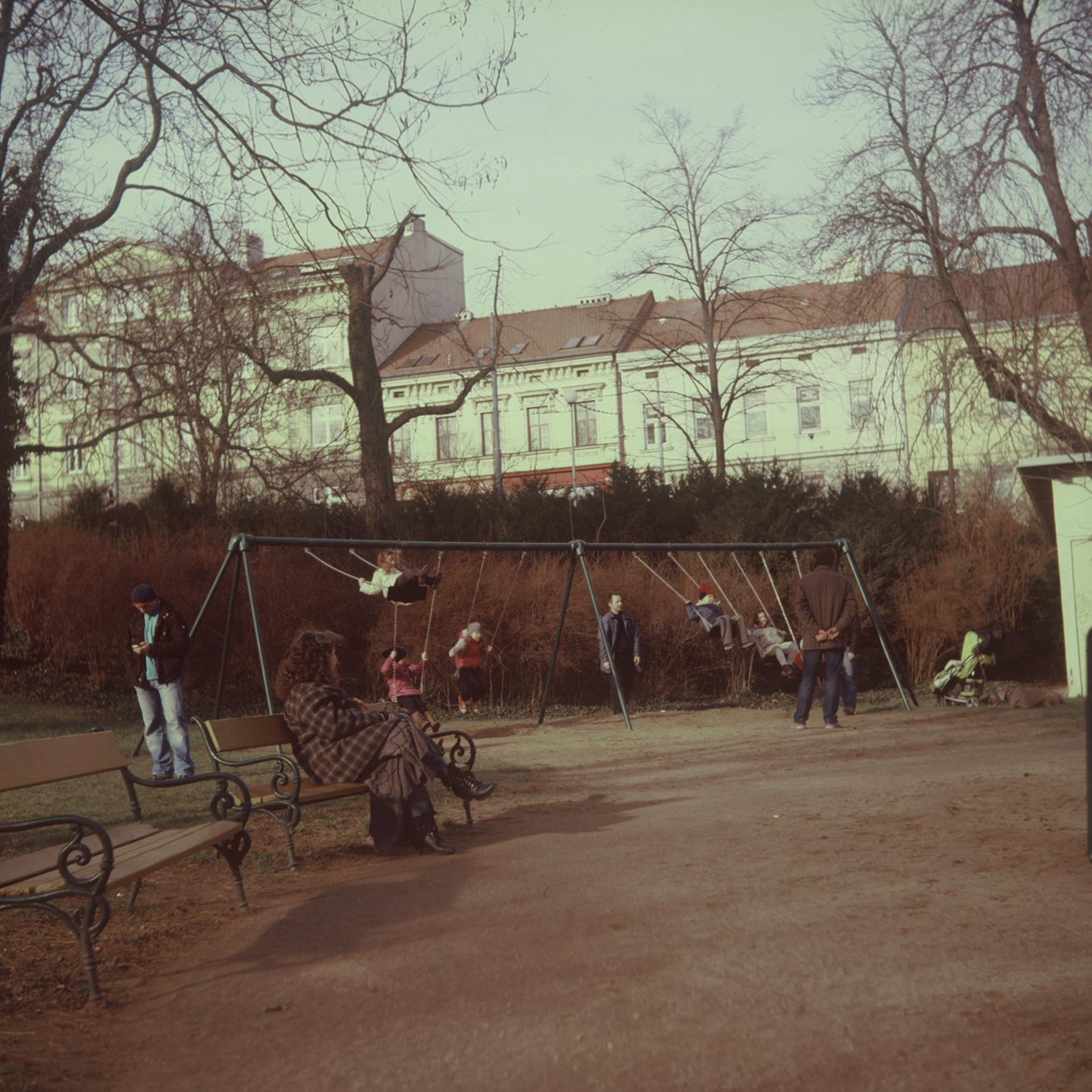 Flexaret 3a - Children on Swings in the Park 2