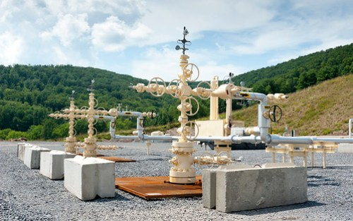Shale gas well, Pennsylvania USA