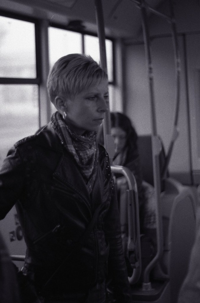 Praktica BC1 - Woman in the Tram