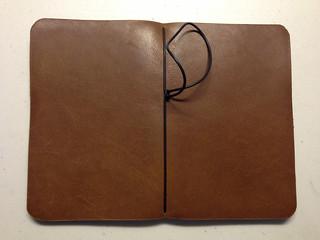 Davis Leatherwork Simple Notebook Cover Back
